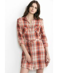 Velvet By Graham & Spencer Caitlin Cotton Plaid Shirt Dress - Lyst