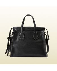 Gucci Ramble Studded Leather Layered Tote - Lyst