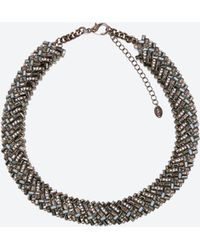 Zara Crystal Chain Necklace - Lyst