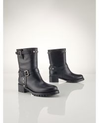 Ralph Lauren Studded Vachetta Reace Boot - Lyst