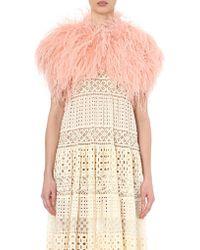 Elie Saab | Feather-embellished Silk Bolero Jacket | Lyst