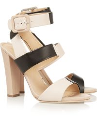 Sergio Rossi Color-Block Leather Sandals - Lyst