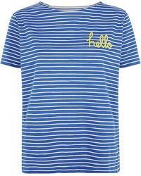 Chinti & Parker Hello Goodbye Stripe T-Shirt - Lyst