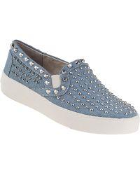 Sam Edelman Braxton Slip-On Sneaker Chambray Fabric - Lyst
