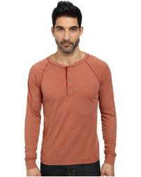 AG Adriano Goldschmied Commute Rag Henley orange - Lyst
