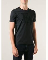 Emporio Armani Embroidered Logo T-shirt - Lyst