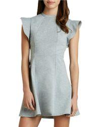 BCBGeneration Ponte Flutter-Sleeve Dress - Lyst