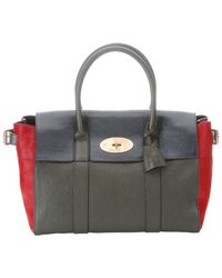 Mulberry Green And Red Leather And Calf Hair 'Bayswater Bucle' Satchel - Lyst