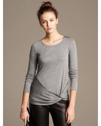 Banana Republic Side Knot Tee - Lyst