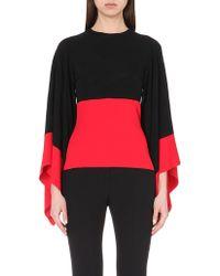Alexander McQueen Kimono-Sleeve Stretch-Knit Top - For Women - Lyst