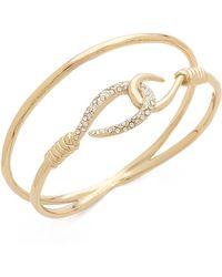 Alexis Bittar Orbiting Hook Bangle Bracelet Gold - Lyst