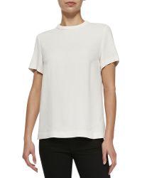 Proenza Schouler Crepe T-shirt - Lyst