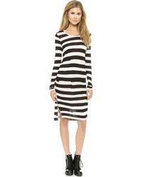 Cheap Monday Stripe Dress - White - Lyst