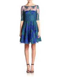 ML Monique Lhuillier Lace & Tulle Swing Dress - Lyst