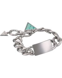 Guess Id Bracelet with Triangle Charm - Lyst