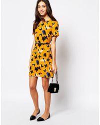 Oasis Pop Art Butterfly A Line Shift Dress - Lyst