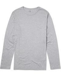 Sunspel | Men's Pima Cotton Long Sleeve T-shirt | Lyst