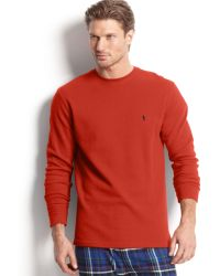 Ralph Lauren Polo Mens Waffle Thermal Pajama Tshirt - Lyst