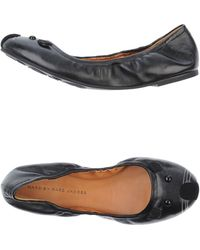 Marc By Marc Jacobs Black Ballet Flats - Lyst