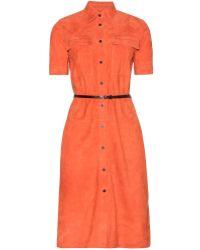 Victoria, Victoria Beckham Suede Dress - Lyst