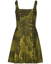 Christopher Kane Short Dress green - Lyst