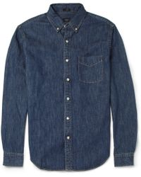 J.Crew Slim Fit Button Down Collar Denim Shirt - Lyst