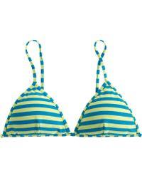 J.Crew Striped French Bikini Top - Lyst