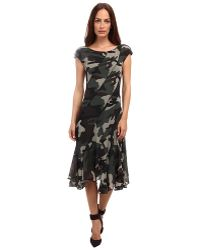 Jean Paul Gaultier Camo Tulle Cap Sleeve Bias Dress - Lyst