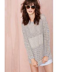 Nasty Gal Wicked Stitch Sweater - Lyst