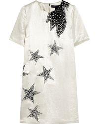 Marc By Marc Jacobs - Cosmo Night Star Appliquéd Satin Mini Dress - Lyst