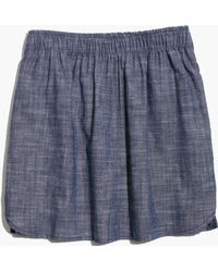 Madewell Almond Surfboard&Trade; Dover Chambray Skirt - Lyst