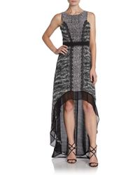 BCBGMAXAZRIA Hilo Mixedprint Dress - Lyst
