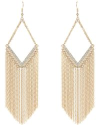 Jane Norman Statement Fringe Earrings - Lyst