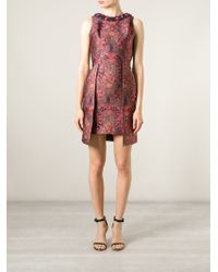 Matthew Williamson Embellished-Collar Brocade Dress - Lyst
