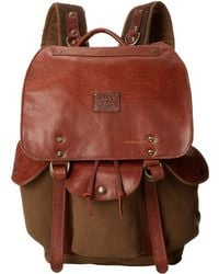 Will Leather Goods Brown Lennon Backpack - Lyst