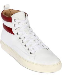 Bally Leather High Top Sneakers - Lyst