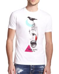 DSquared² Graphic T-Shirt white - Lyst