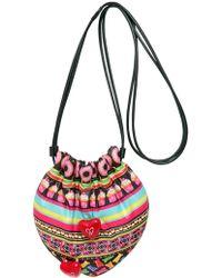 Manish Arora Gummy Strips Padded Nylon Shoulder Bag - Lyst