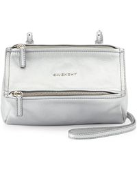 Givenchy Mini Pandora Metallic Crossbody Bag - Lyst
