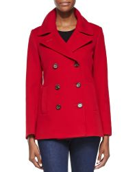 Fleurette Double-breasted Wool Peacoat - Lyst