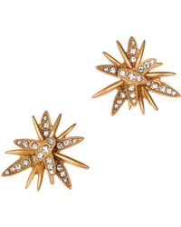 J.Crew Gold Starburst Earrings - Lyst