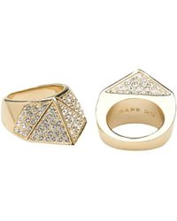 CC Skye Bonnie and Clyde Pave Ring - Lyst