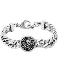 Diesel Gray Bracelet Dx0885 - Lyst