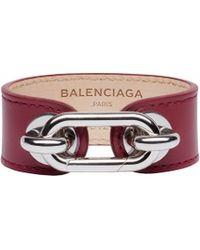 Balenciaga Purple Maillon Bangle - Lyst