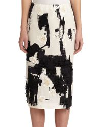 Donna Karan New York Abstract Embellished Pencil Skirt multicolor - Lyst