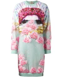 Manish Arora Embellished Sweatshirt Dress - Lyst