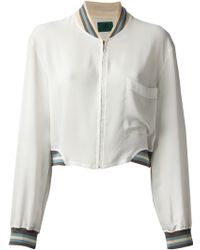 Jean Paul Gaultier Sheer Bomber Jacket - Lyst