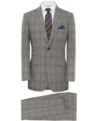 Jules B Two Piece Checked Suit - Lyst