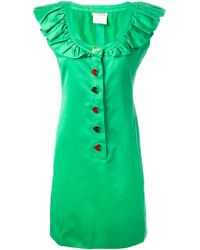 Yves Saint Laurent Vintage Ruffle Collar Dress - Lyst