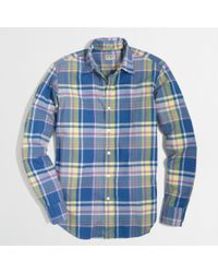 J.Crew Factory Slim Washed Shirt in Summer Plaid - Lyst